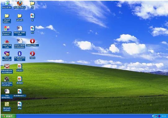 Menghilangkan Warna Biru Shortcut Desktop Norwara Tampilan Walaupun Diberi Gambar
